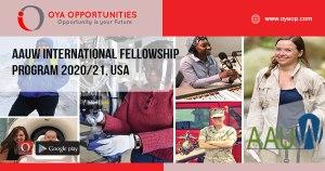 AAUW International Fellowship Program 2020/21, USA
