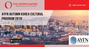 AYFN Autumn Korea Cultural Program 2019