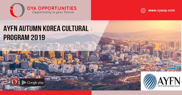 AYFN Autumn Korea Cultural Program 2019