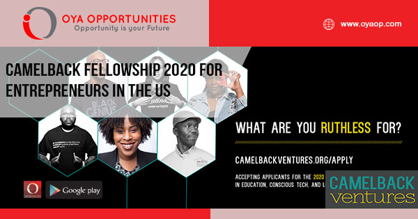 Camelback Fellowship 2020 for Entrepreneurs in the US