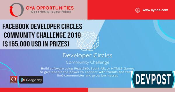 Facebook Developer Circles Community Challenge 2019 ($165,000 USD in prizes)
