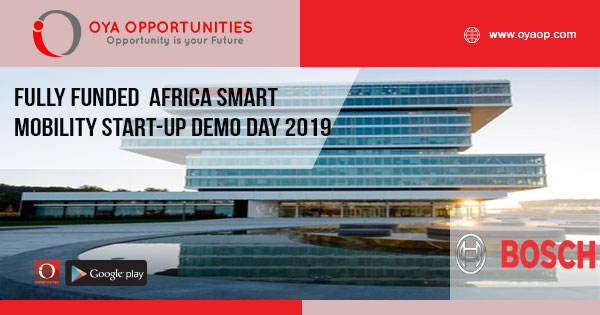 Fully Funded Africa Smart Mobility Start-up Demo Day 2019