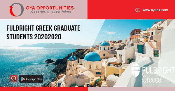 Fulbright Greek Graduate Students 2020