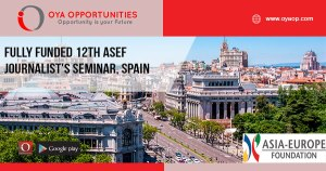 Fully Funded 12th ASEF Journalist's Seminar, Spain
