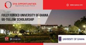 Fully Funded University of Ghana UG-Tullow Scholarship