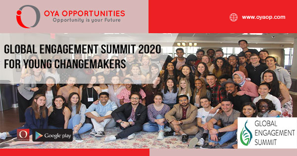 Global Engagement Summit 2020 for Young Changemakers