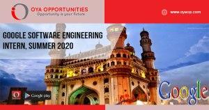Google Software Engineering Intern, Summer 2020