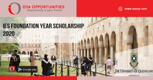 IES Foundation Year Scholarship 2020