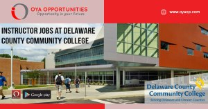 Instructor jobs at Delaware County Community College