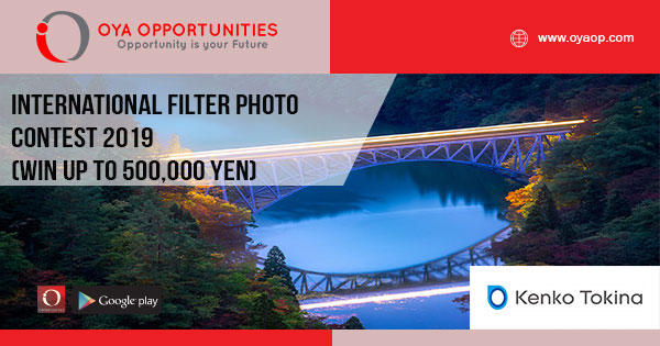International Filter Photo Contest 2019 (win up to 500,000 yen)
