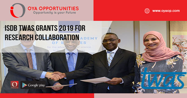 IsDB TWAS Grants 2019 for Research Collaboration