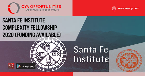 Santa Fe Institute Complexity Fellowship 2020 (Funding available)