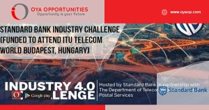 Standard Bank Industry 4.0 Challenge 2019 (Funded to attend ITU Telecom World in Budapest, Hungary)