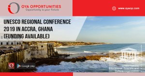 UNESCO Regional Conference 2019 in Accra, Ghana (Funding available)