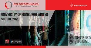 University of Edinburgh Winter School 2020