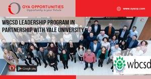 WBCSD Leadership Program in Partnership With Yale University