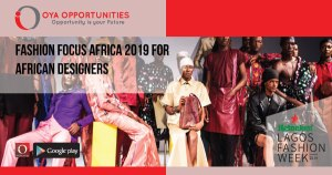 Fashion Focus Africa 2019 For African Designers