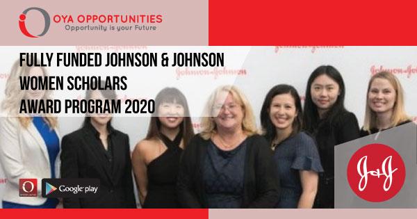 Fully Funded Johnson & Johnson Women Scholars Award Program 2020