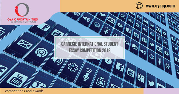 Carnegie International Student Essay Competition 2019