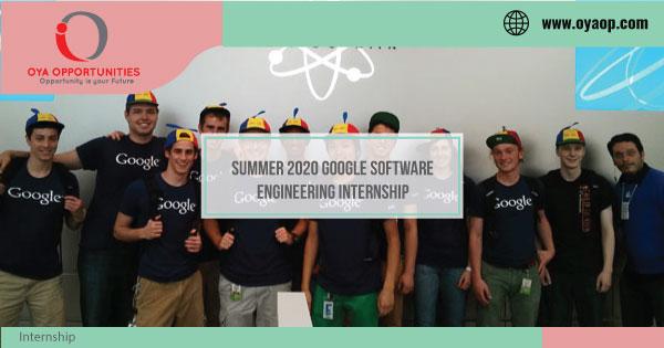 Summer 2020 Google Software Engineering Internship