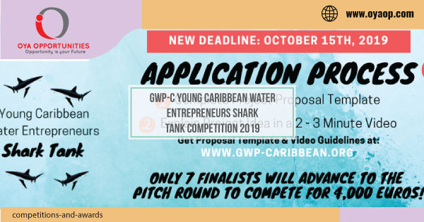 GWP-C Young Caribbean Water Entrepreneurs Shark Tank Competition 2019