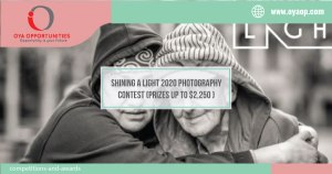 Shining A Light 2020 Photography Contest (Prizes up to $2,250 )