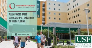 Fully Funded Green Scholarship at University of South Florida