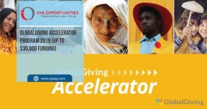 GlobalGiving Accelerator Program 2019 (up to $30,000 funding)