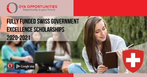 Fully Funded Swiss Government Excellence Scholarships 2020-2021