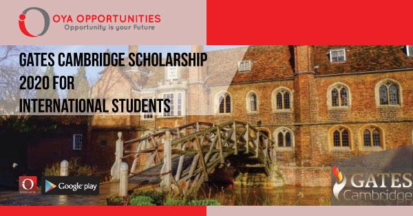 Gates Cambridge Scholarship 2020 for International Students
