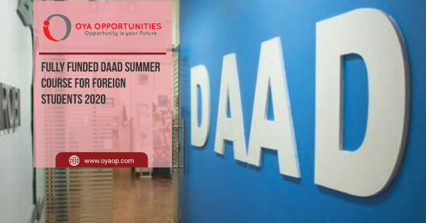 Fully Funded DAAD Summer Course For Foreign Students 2020