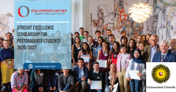 Utrecht Excellence Scholarship for Postgraduate Students 2020/2021