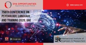758th Conference on Psychology, Language and Training, UAE