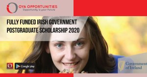 Fully Funded Irish Government Postgraduate Scholarship 2020