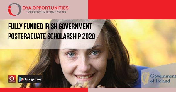 Fully Funded Irish Government Postgraduate Scholarship 2020