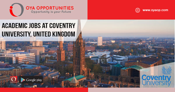 Academic Jobs at Coventry University, United Kingdom