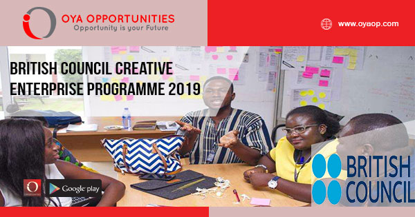 British Council Creative Enterprise Programme 2019