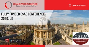 Fully Funded CSAE Conference 2020, UK