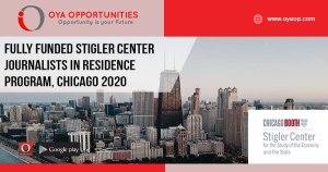 Fully Funded Stigler Center Journalists in Residence Program, Chicago 2020
