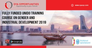 Fully Funded UNIDO Training Course on Gender and Industrial Development 2019
