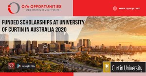 Funded Scholarships at University of Curtin in Australia 2020