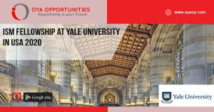 ISM Fellowship at Yale University in USA 2020
