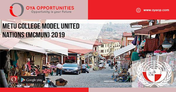 METU College Model United Nations (MCMUN) 2019