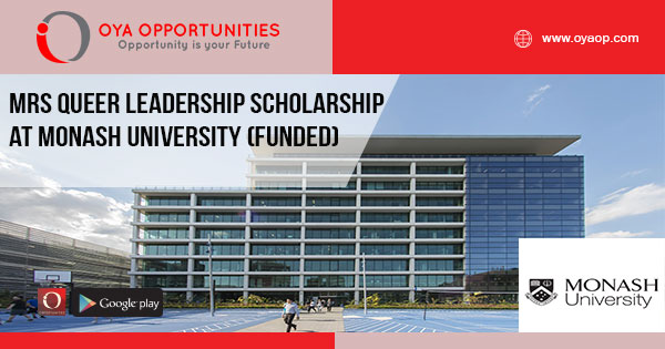 MRS Queer Leadership Scholarship at Monash University (Funded)