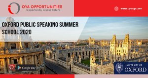 Oxford Public Speaking Summer School 2020