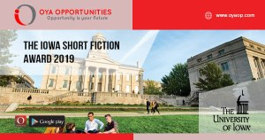 The Iowa Short Fiction Award 2019