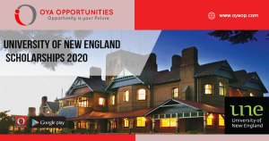 University of New England Scholarships 2020