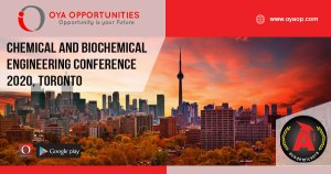 Chemical and Biochemical Engineering Conference 2020 Toronto