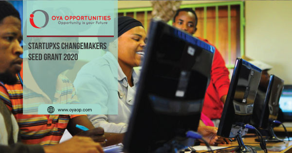 StartupXS ChangeMakers Seed Grant 2020