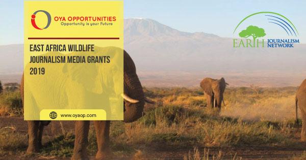 East Africa Wildlife Journalism Media Grants 2019